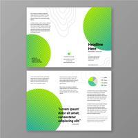 Plantilla de folleto - color verde vivo minimalista