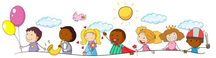 Doodle barn och aktivitet