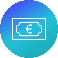 icono de vector euro
