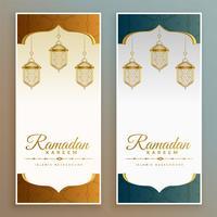 banners de festival elegante ramadan kareem