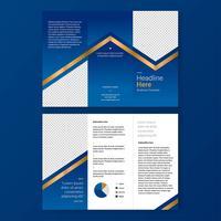Plantilla de folleto - elegancia azul