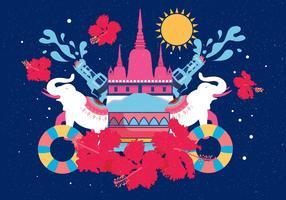 vecteur de festival songkran