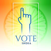 india vote hand with tricolor background