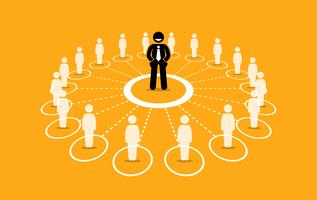 Business network and communication.