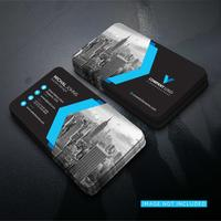 Blue elegant corporate card vector design
