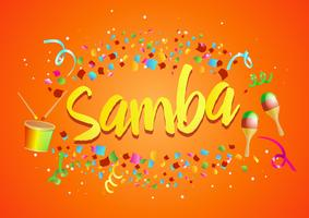 "Burst of Confetti around ""Samba"""