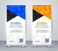 modern rollup stande banner mall