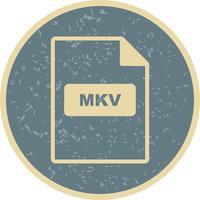icône de vecteur mkv