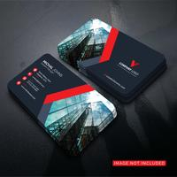 Beautiful modern red business card Free Vector
