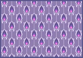 Paarse bloem Retro patroon Vector