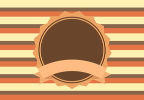 Brown Orange Yellow Retro Background Vector