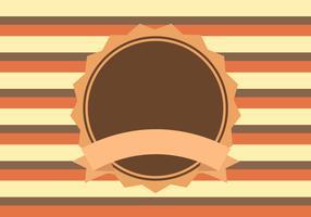 Brown Orange Yellow Retro Background Vector