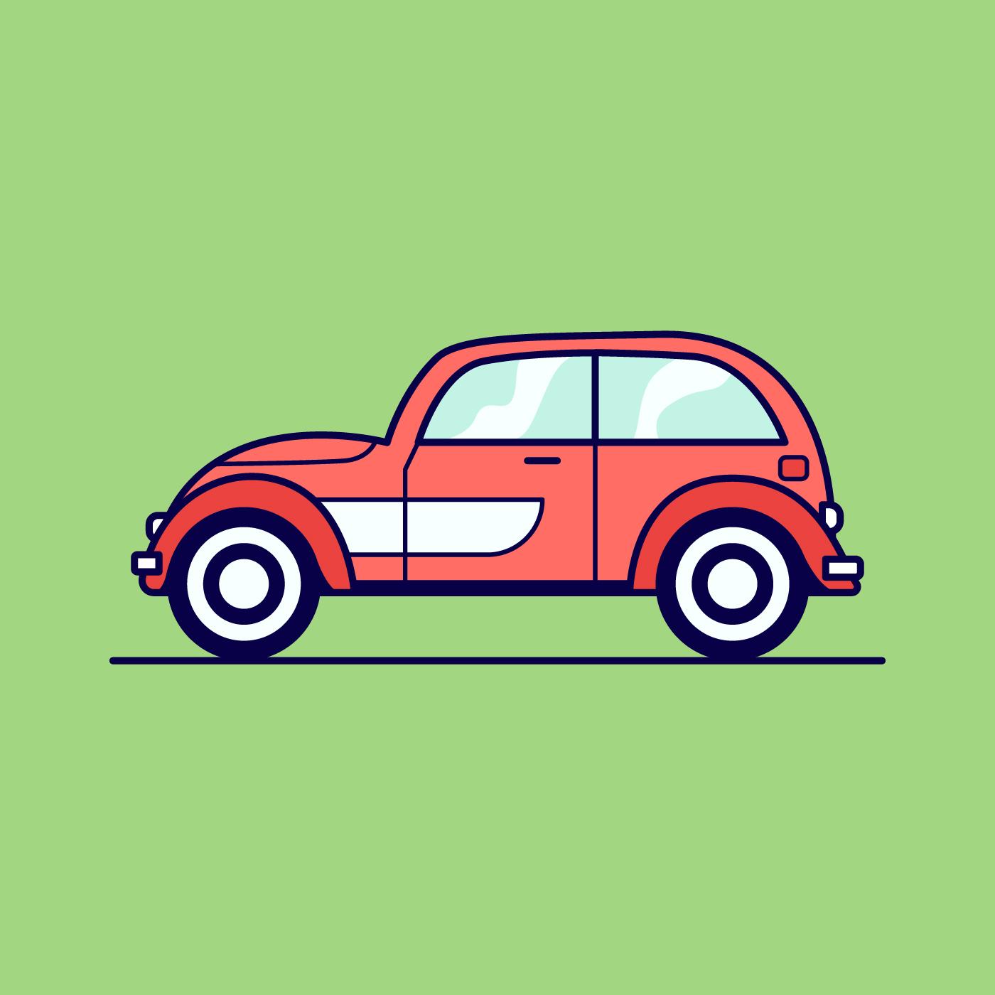 Retro car illustration - Download Free Vectors, Clipart Graphics & Vector  Art