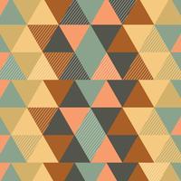 Fond rétro triangulaire