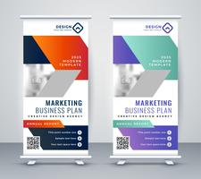 stylisj rollup banner design in stile geometrico