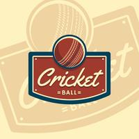 cricket bal badge embleem