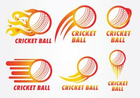 pelota de cricket logo vector pack
