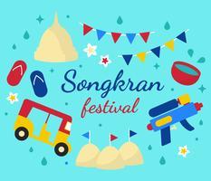 thailand songkran festival vector