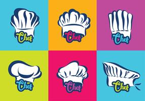 Chef sombrero logo vector pack