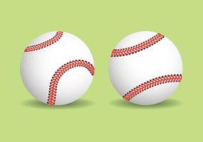 Illustration réaliste de baseball