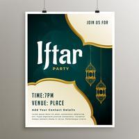 inbjudan mall av iftar parti