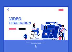Modern flat web page design template concept of Video Production