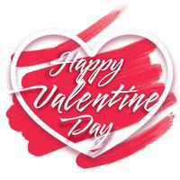 """Hjärtram med text """"Glad hjärtans dag"""""""