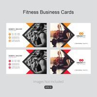 Fitness visitekaartje sjabloon