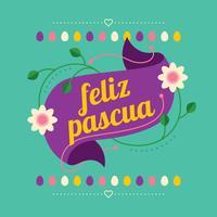 Feliz Pascua achtergrond