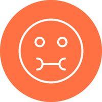 Kranke Emoji-Vektor-Ikone
