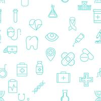 Set of 25 medical line icons
