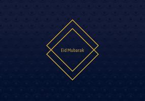 Moldura geométrica Eid Mubarak