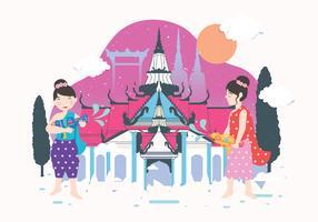 Songkran-festival-vector