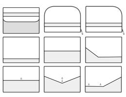 Clutch design illustration flat sketches template