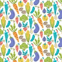 Vector Vegetables Seamless Pattern