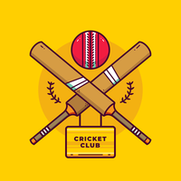 vecteur de logo de cricket