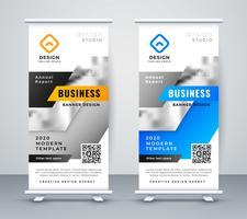 abstract business rollup banner design