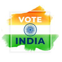 abstract election vote india background