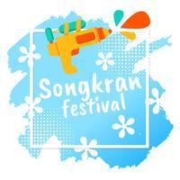 Festival de Songkran Tailandia Vector