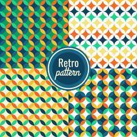 Set van naadloze retro patroon behang