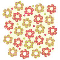 Modèle d'illustration fleur motif vector design