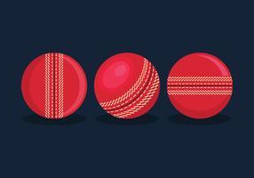 Vecteur balle cricket