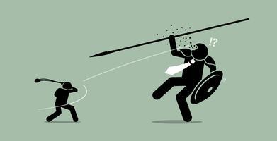 David gegen Goliath.