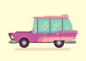 Illustration de voiture rétro