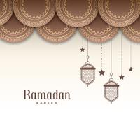 decorative ramadan kareem festival greeting