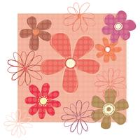 Flower Pattern vector design illustration template