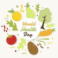 världens hälsodag vektor