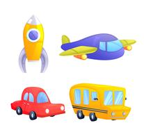 Kids Toys for children game. Vector cartoon illustration
