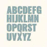 Vector Retro Font