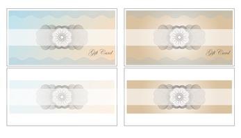 Giftcard set vector design illustration modèle